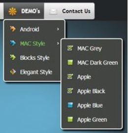 CSS3 Menu for Win - Unlimited Website License